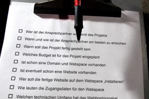 Eine Webdesign-Check-Liste für das Kundengespräch ist von Vorteil
