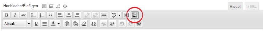 Die Buttons zur Textformatierung
