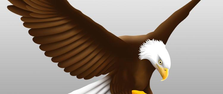 Ein Adler aus Vektorpfaden