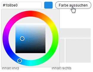 Eine Farbe auswählen