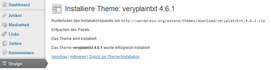 Die Installationsdokumentation
