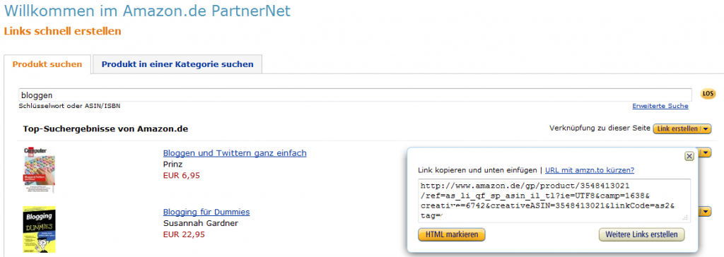 amazon-partnerprogramm-links