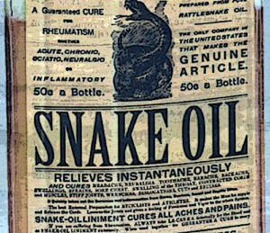 Snake Oil Flaschenlabel