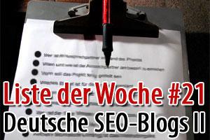 SEO - Blogs in Deutschland die Du lesen solltest Teil 2