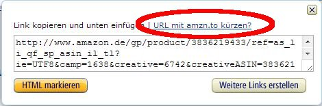 Affiliate Links maskieren mit Amazon