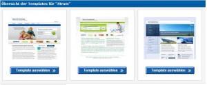 Beispiele der Partnertemplates von Check24
