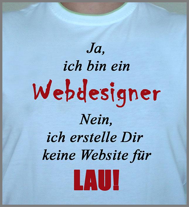 Ich bin ein Webdesigner