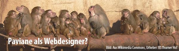 Paviane als Webdesigner?