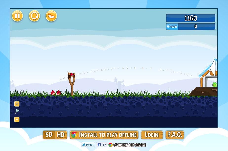 Angry Birds kostenlose Online-Version