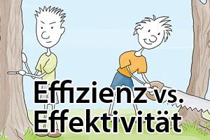 Effizienz vs. Effektivität - Ein Unterschied der nicht nur für Blogger fundamental ist