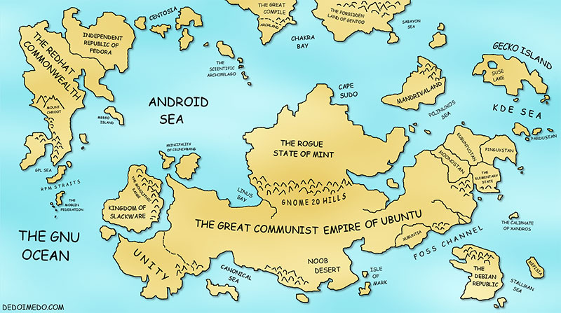 The Great Linux World Map