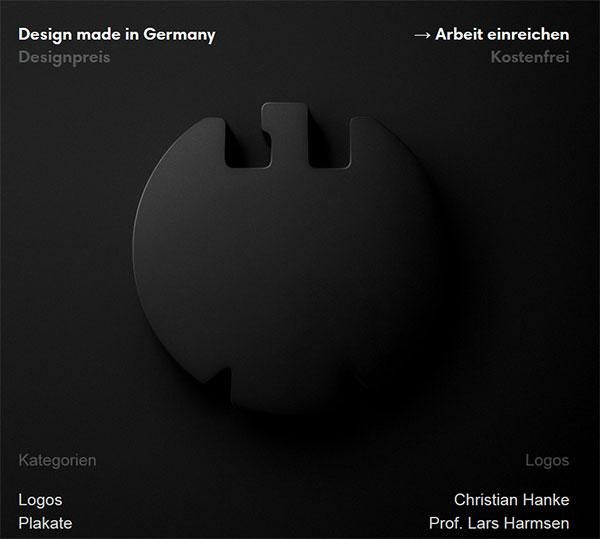 Webseite Designpreis