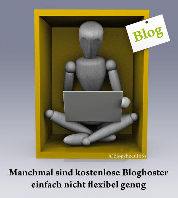 Manchmal sind kostenlose Blog-Hoster zu unflexibel