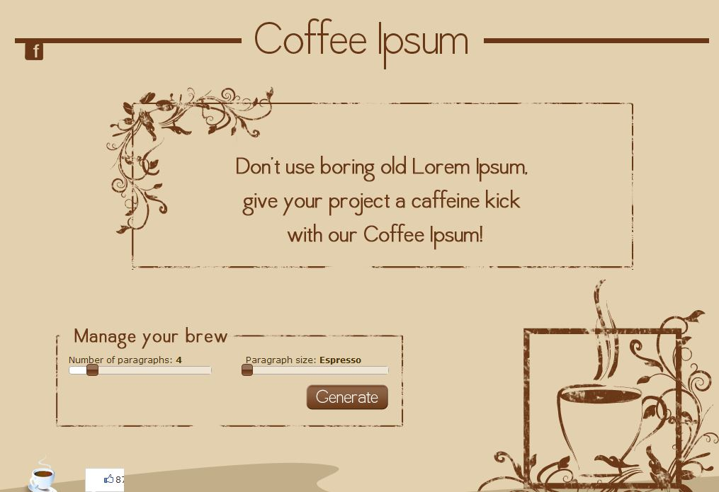 Kaffee macht müde Blogger munter