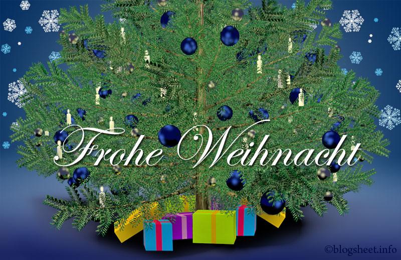 Wir wünschen frohe Weihnacht