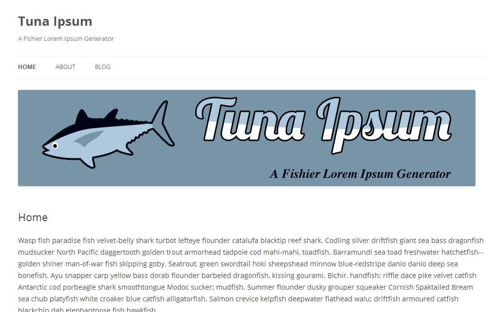 Tuna Ipsum - Fisch ist gesund