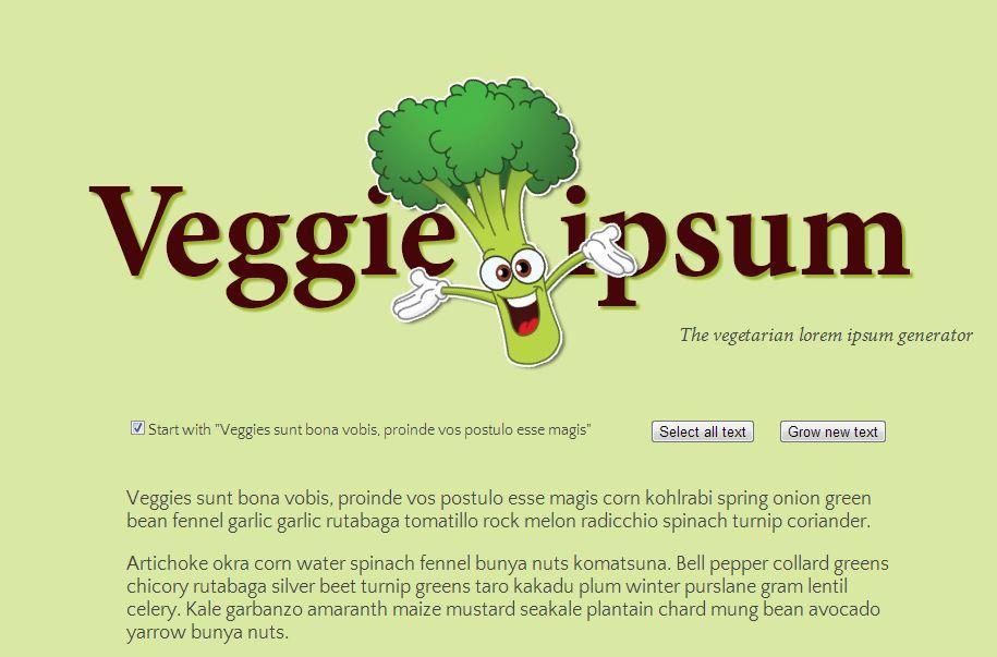 Veggie Ipsum für den Tierliebhaber