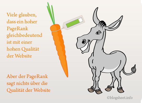 Der PageRank hat nichts mit der Qualität der Website zu tun