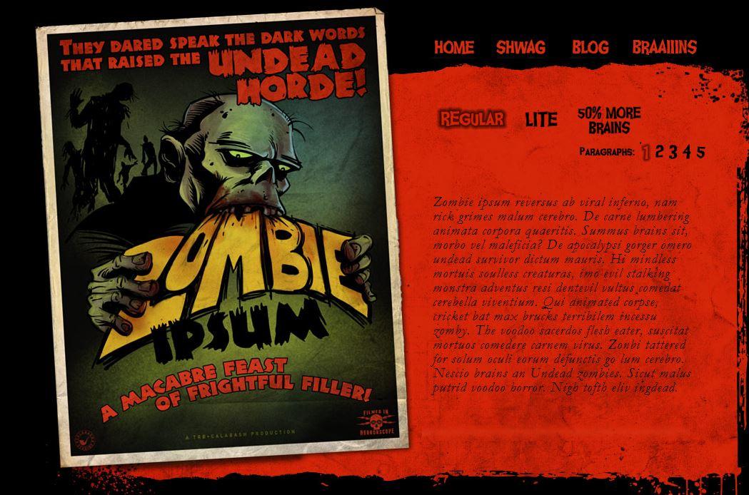 Nicht nur für Untote - Zombie Ipsum