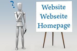 Website, Webseite, Homepage – Die Unterschiede