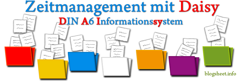 Zeitmanagement mit dem DIN A6 Informationssystem Daisy