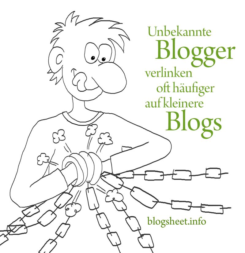 Unbekannte Blogger verlinken oft häufiger auf unbekannte Blogs