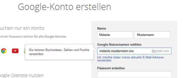 neue email adresse erstellen gmail
