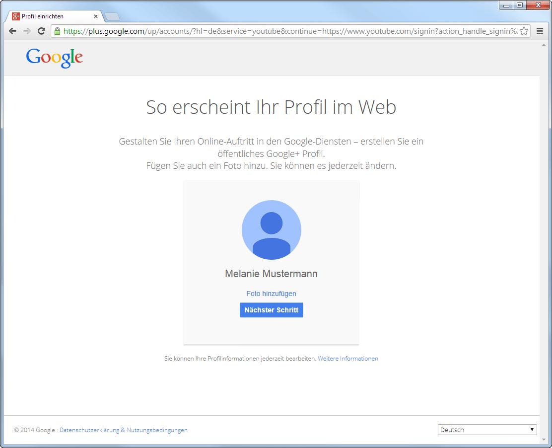 Google-Konto erstellen - So erscheint dein Profil im Web
