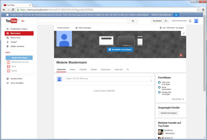 Dein neuer YouTube-Kanal