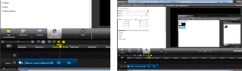 Ein Zoom (links) ist oft nötig, wenn im Vollbild (rechts) die Details schlecht zu erkennen sind.