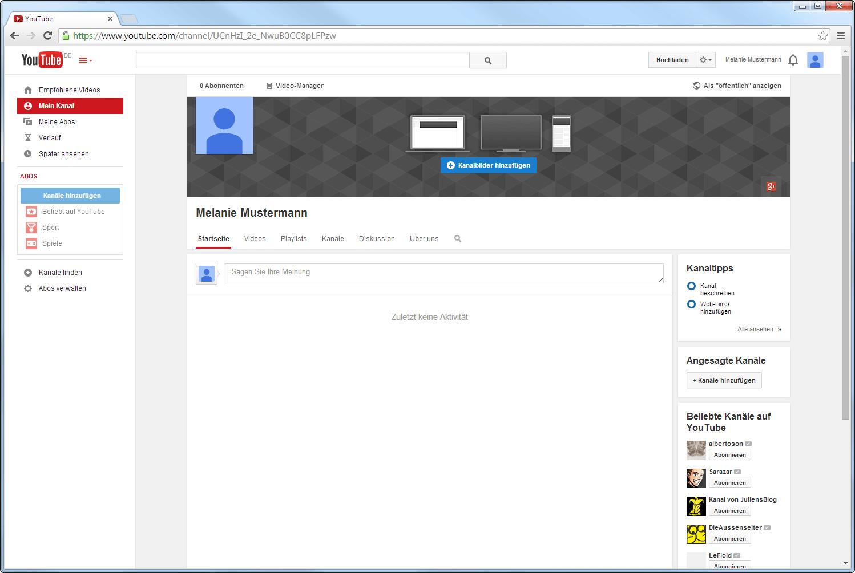 Dein YouTube-Kanal