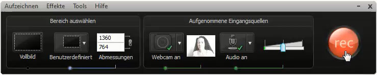 camtasia-recorder-webcam-starten