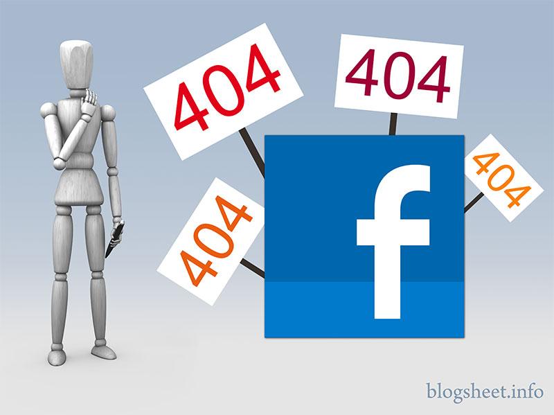 Wenn Facebook 404 Fehler zurückgibt
