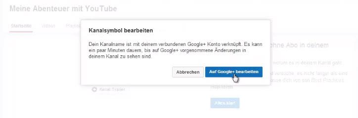 Das Kanalsymbol deines YouTube-Kanals auf Google+ bearbeiten