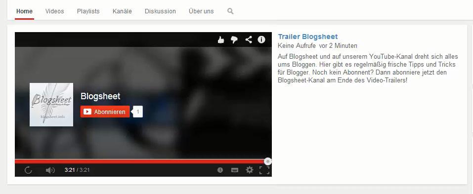 Mit deinem Kanal-Trailer für deinen YouTube-Kanal Abonnenten gewinnen