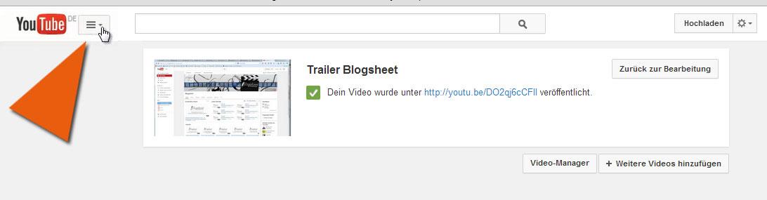 Zurück zum YouTube-Kanal
