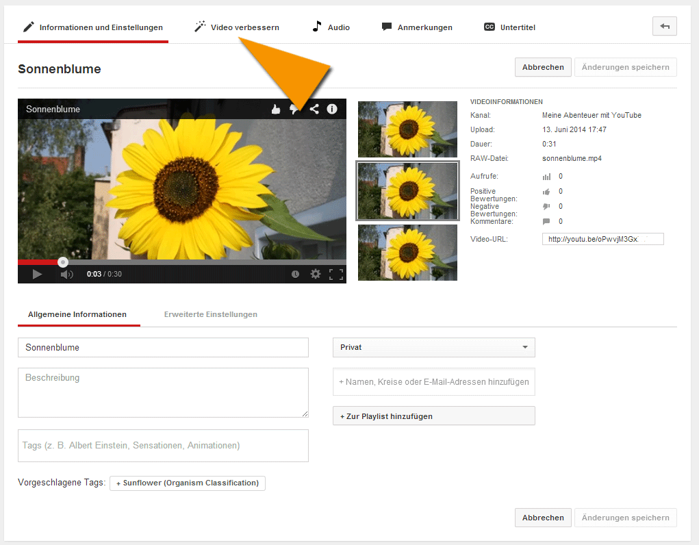 Dein Video auf YouTube verbessern