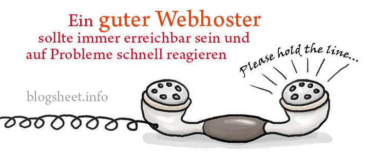 Der beste Webhoster ist immer erreichbar