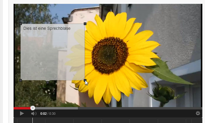 Die Sprechblase für dein YouTube Video skalieren