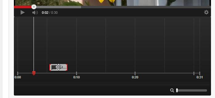 Die Anmerkungen auf der Timeline auf YouTube verschieben