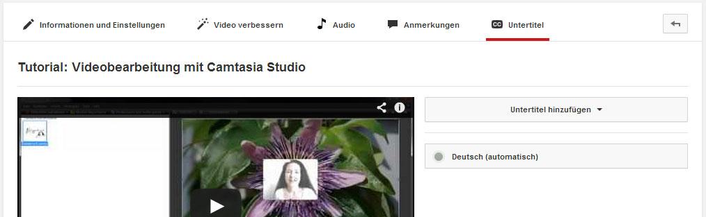YouTube erstellt automatische Untertitel