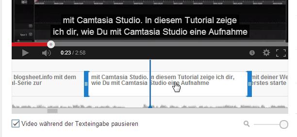 Untertitel-Anzeigedauer bearbeiten