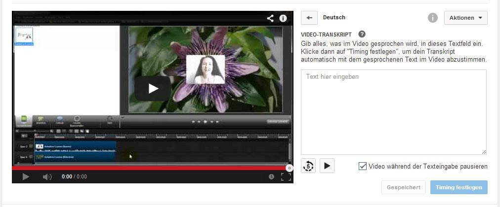 Untertitel-Methode Transkribieren und synchronisieren