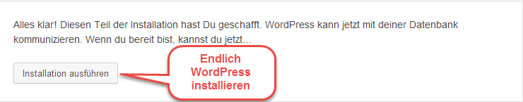 Abbildung 10.5 - Endlich WordPress installieren