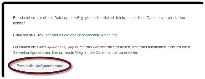 Abbildung 10.1 - Die WordPress Konfigurationsdatei